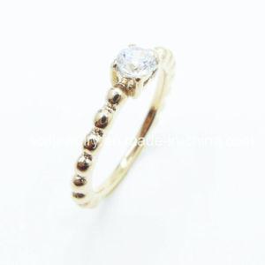 方法ステンレス鋼宝石類によってめっきされる指リング