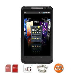 4.3 de  Capacitieve Telefoon GSM+WCDMA van het Scherm E50 Mtk6573 3G 3G Androïde GPS 2.3 WiFi Mobiele Telefoon