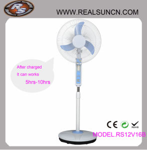 WS-Gleichstrom Double Duty Rechargeable Fan 16inch mit LED Lamp (RS12V16B)