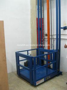 Elevatore utilizzato idraulico verticale del carico del supermercato della guida di guida
