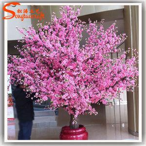 A decoração do hotel planta artificial Árvore de flor rosa interior
