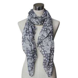 Fashion CottonかLinen Voile Knitted Printed Scarf (YKY4072)女性