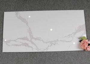 Mosaico de mármol blanco de Carrara la porcelana de cerámicas de piso 600X1200