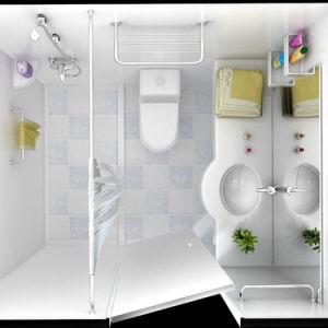 Professionl prefabricados de cuarto de baño, WC Cuarto de baño ...