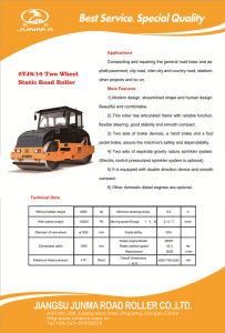 8-10 macchinario edile del cilindro statico di tonnellata (2YJ8/10)