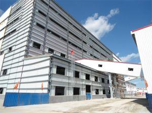 Structure de Fabrication en acier préfabriqués peint de la construction avec un panneau sandwich (KXD-BSR1)