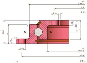 Tipo de Luz Rollix anillo de rotación de la brida de 23 de 0641 01