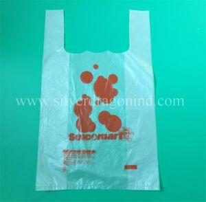 Zoll druckte Shirt-Beutel für das Einkaufen/Träger-Beutel/Weste-Beutel