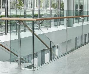 Framelessのガラス柵SS304 SS316の緩和されたガラスの手すり