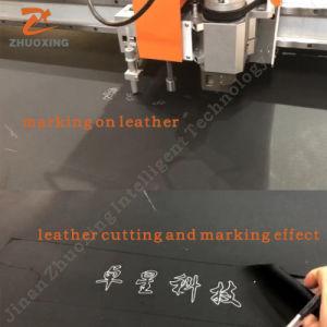 Máquina de corte de PU da faca oscilante para estampar couro sintético