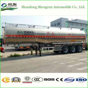Rimorchio dell'autocisterna del combustibile derivato del petrolio della lega di alluminio degli assi di Shengrun 3