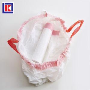 13 갤런 가구 최신 판매 HDPE/LDPE 졸라매는 끈 쓰레기 봉지를 정리하십시오