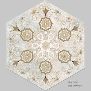 Verglaasde Matte Hexagonale Tegel voor De Tegel van de Vloer van het Bouwmateriaal