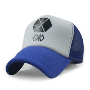 좋은 보기 대조는 주문 로고를 가진 남녀 공통 트럭 운전사 모자를 착색한다