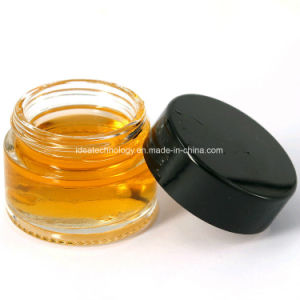 Redonda pequeña claro Cosmetic Frasco de vidrio con tapón de rosca de plástico