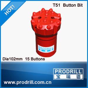고품질 T38 T45 T51는 바위 광업 교련 단추 비트를 스레드핬다