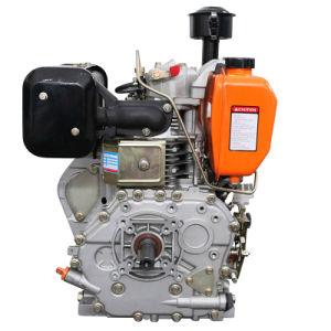 De Gekoelde Dieselmotor van de compressie-ontsteking Lucht (14HP met het Groene Geval van de Ventilator)
