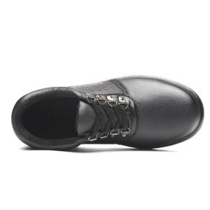 Bajo el tobillo Calzado de seguridad de cuero con suela de goma