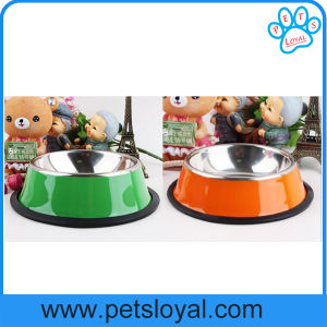 Pet água do alimentador duplo de aço inoxidável grandes bacias de cães