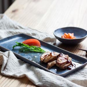 La glaçure étoilé Les sushis japonais Les dîner de style