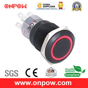 Onpow Metal Push Button Switch (LAS1-AGQ-11E/R/12V/A、19mmのセリウム、UL、CCC、RoHS)