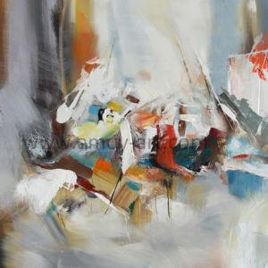 100%のハンドメイドの現代抽象的な壁の芸術の油絵