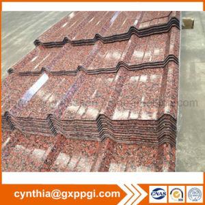 Revestido de color de disco duro completo techado De acero corrugado de estructura de chapa de acero