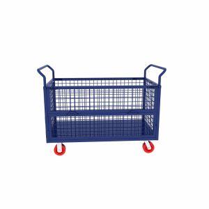 Carrello della mano galvanizzato gabbia pieghevole del rullo di logistica 3-Sided