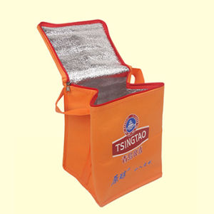 Personnaliser le logo de la publicité imprimée refroidisseur non tissé sac sac de glace