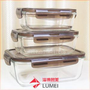 Conjunto do recipiente para armazenamento de alimentos de vidro vidro Cozinha Conjunto de armazenamento de alimentos Lancheira de microondas de contêiner seguro com tampas de travamento hermético Copo