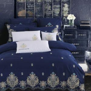 ホーム寝具はサテンまたは綿綿繻子の羽毛布団カバーをセットし、セットを広げる