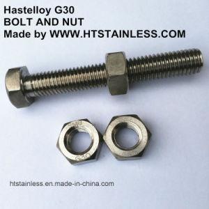 Hastelloy G30 M12x80 DIN931 assemblés Vis et écrou
