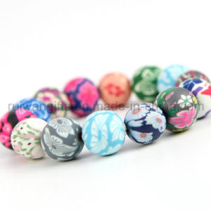 Fashion Polymer Clay Bead Bracelet