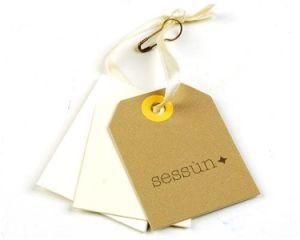 Etiqueta de papel Papel / etiqueta con el papel de estraza