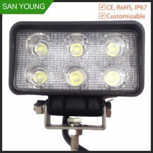 EMC 18W Automobile LED LED de faisceau d'inondation de lampe de travail lumière rectangulaire