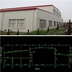 Estructura de acero diseñado previamente para almacén, taller, edificio de acero