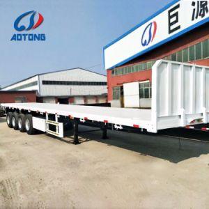 Flaches Bett-Behälter-halb Schlussteile China-Aotong 4axle für Verkauf