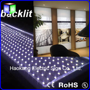 Boîte à lumière LED sans cadre Advertismenttextile tissu affichage publicitaire de profilé en aluminium