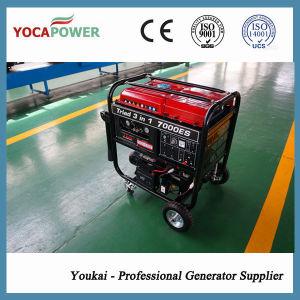 4kw generador eléctrico de gasolina y el soldador y el compresor de aire integrada