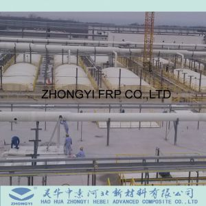 Tubo de fibra de vidrio y la minería y química el suministro de agua