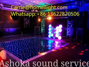 La mayoría de la boda del Partido Popular discoteca RGB LED iluminado por las estrellas del Panel de pista de baile