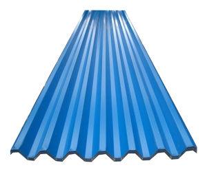 Couleur RAL5020 recouvert de zinc tôle de toit ondulé