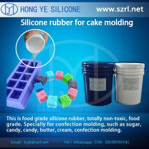RubberVorm die van het Silicone van de Rang van het voedsel de Vloeibare Siliconen voor de Cake van het Suikergoed van de Chocolade maken