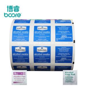El alcohol Prepad embalaje papel