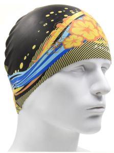 Todo totalmente impresso nadar nadar em borracha de silicone Pac Pac nadar Hat chapéu de natação para adultos e crianças