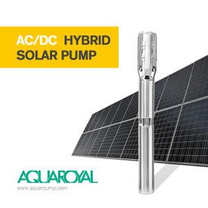 Hybrider versenkbarer maximaler maximaler Solarkopf der Pumpen-4sp3/18 des Fluss-6.3m3 190m Selbst-AC/DC