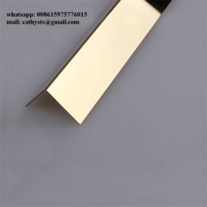 Dell'acciaio inossidabile di angolo di rivestimento o specchio di profilo hl a forma di L