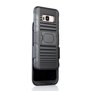 Samsung S8のための卸し売り携帯電話の箱の装甲Kickstandベルトクリップ箱