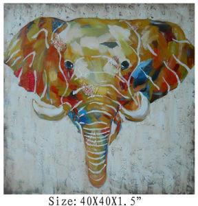 100% Handpainted высокого искусства слонов с текстурированной поверхностью на холсте (пункт № 705343)