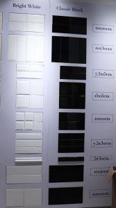 De de zwarte Badkamers van de Tegel van de Metro van de Muur van de Schuine rand van 3X6inch/7.5X15cm Ceramische/Decoratie van de Keuken